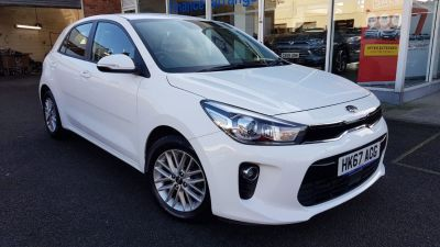 Kia Rio 1.4 2 5dr Auto Hatchback Petrol White at Clarion Cars Worthing