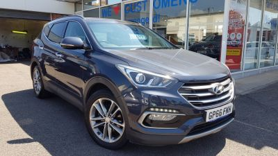 Hyundai Santa Fe 2.2 CRDi Blue Drive Premium SE 5dr Auto [7 Seats] Estate Diesel Blue at Clarion Cars Worthing