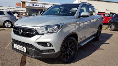 SsangYong Musso 2.2 Double Cab Pick Up Rebel 4dr Auto AWD Pick Up Diesel Silver at Clarion Cars Worthing