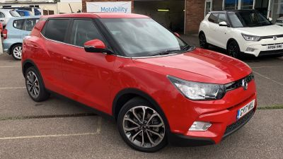 SsangYong Tivoli 1.6 ELX 5dr Auto Hatchback Petrol Red at Clarion Cars Worthing